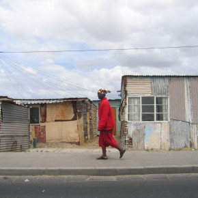 Man in Township, South Africa