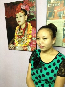 Former child goddess Chanira Bajracharya.